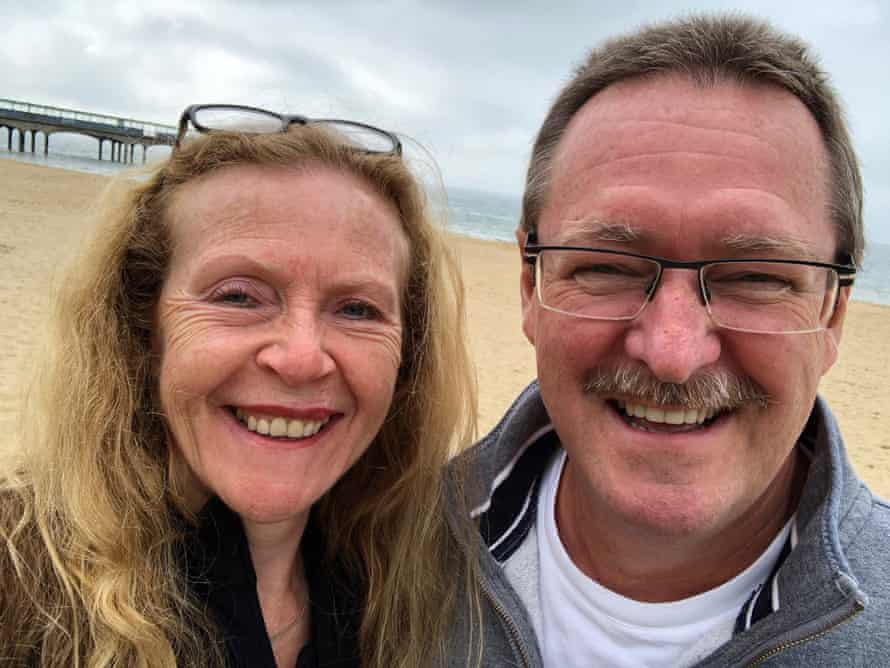 David and Lynne Cross over the bank holiday weekend in May 2021.