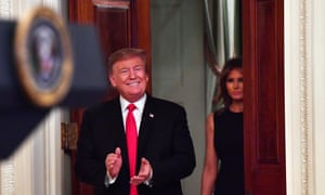 Donald Trump and Melania Trump at the White House on Thursday in Washington DC. Experts say the president is his own worst enemy.