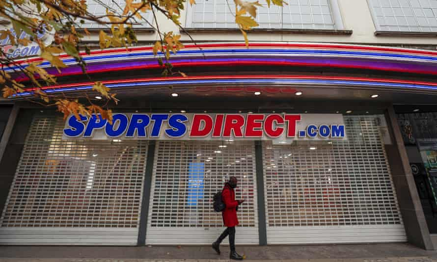 A closed Sports Direct store