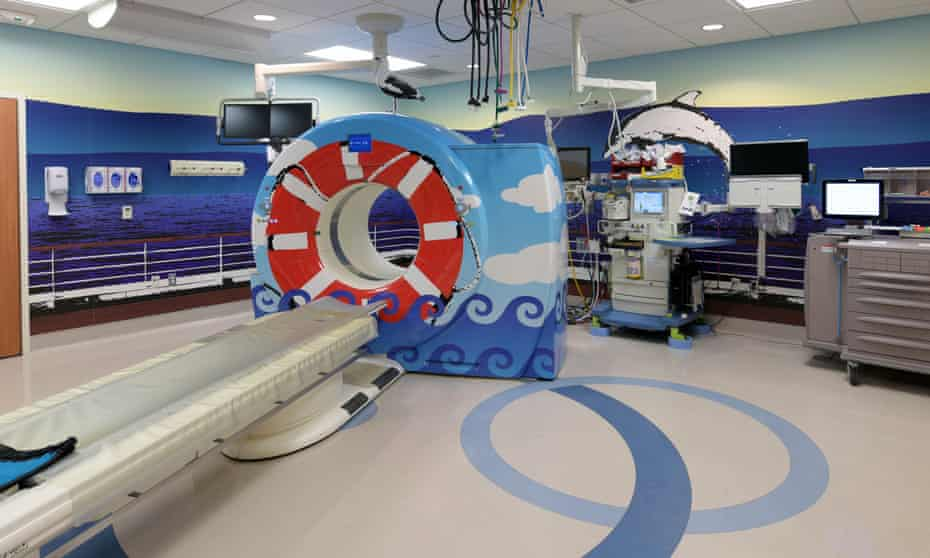 Rob Pruitt's installation at the CT scan suite at CHOC children's hospital in Orange County.