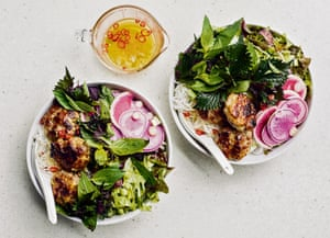 Caroline and Sophie's sausage bun cha ticks the healthy and fatty boxes all at once