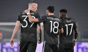 Scott McTominay, Bruno Fernandes and Fred