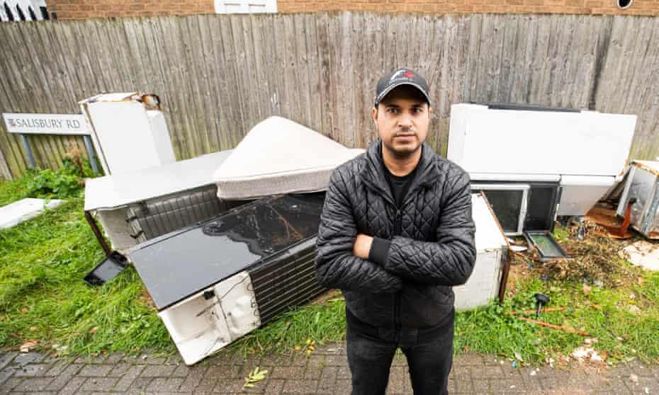 Zaheer Akbar, an anti-fly-tipping activist in Alum Rock, Birmingham