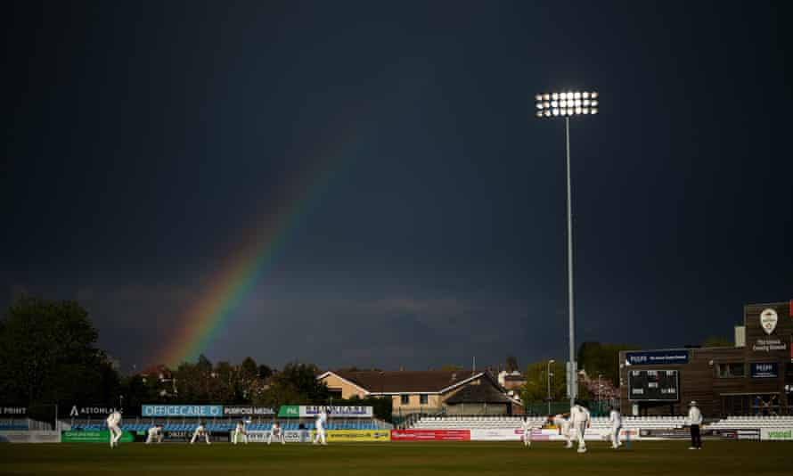 The scene at the County Ground, where Nottinghamshire beat Derbyshire over the weekend.