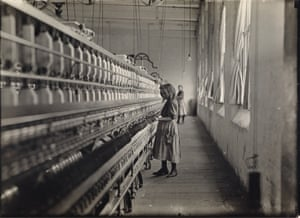 One of many children working in Carolina cotton mills, 1908 In 1908, Hine was commissioned by the National Child Labour Committee to begin documenting young workers across the country. At the time, children were regularly employed on family farms, but Hine's photographs brought attention to their work as miners, mill workers, and oyster shuckers, and eventually helped lead to the passage of the Fair Labor Standards Act in 1938