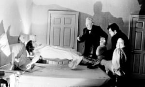 A still from the 1974 film The Exorcist showing Hollywood's take on the Christian ritual