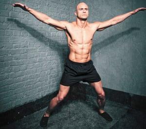 LJ Flanders demonstrating the jumping cross jack.