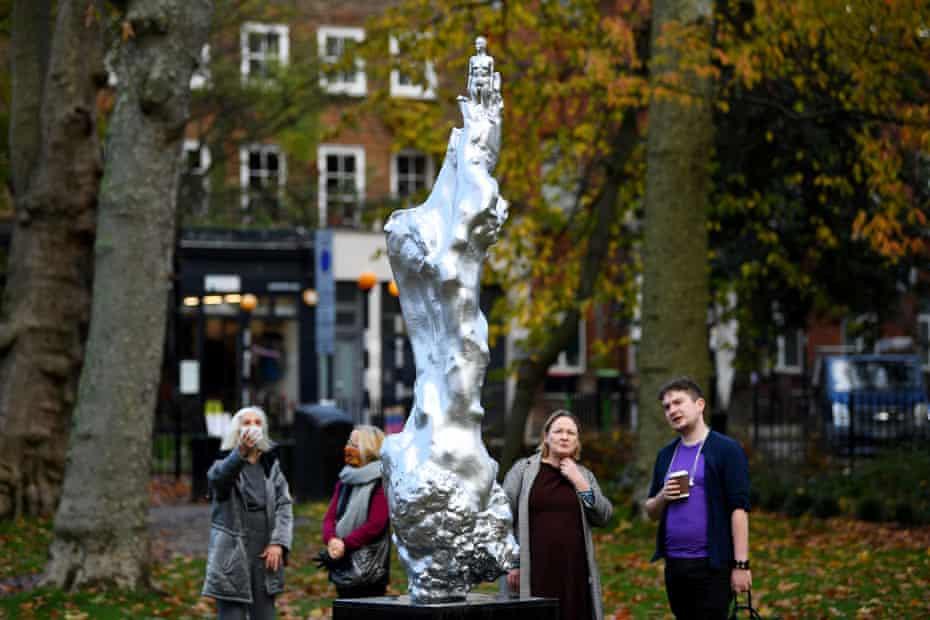 'It's like a skyrocket going up' … the statue honouring Mary Wollstonecraft.