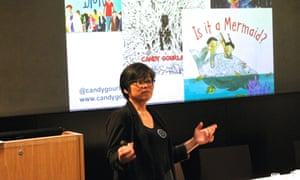 Candy Gourlay speaking at Reading for Pleasure 28 March 2019