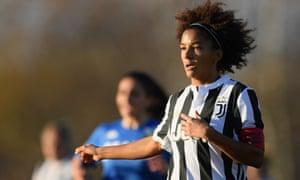 Defender Sara Gama plays for Juventus against Sassuolo in Vinovo