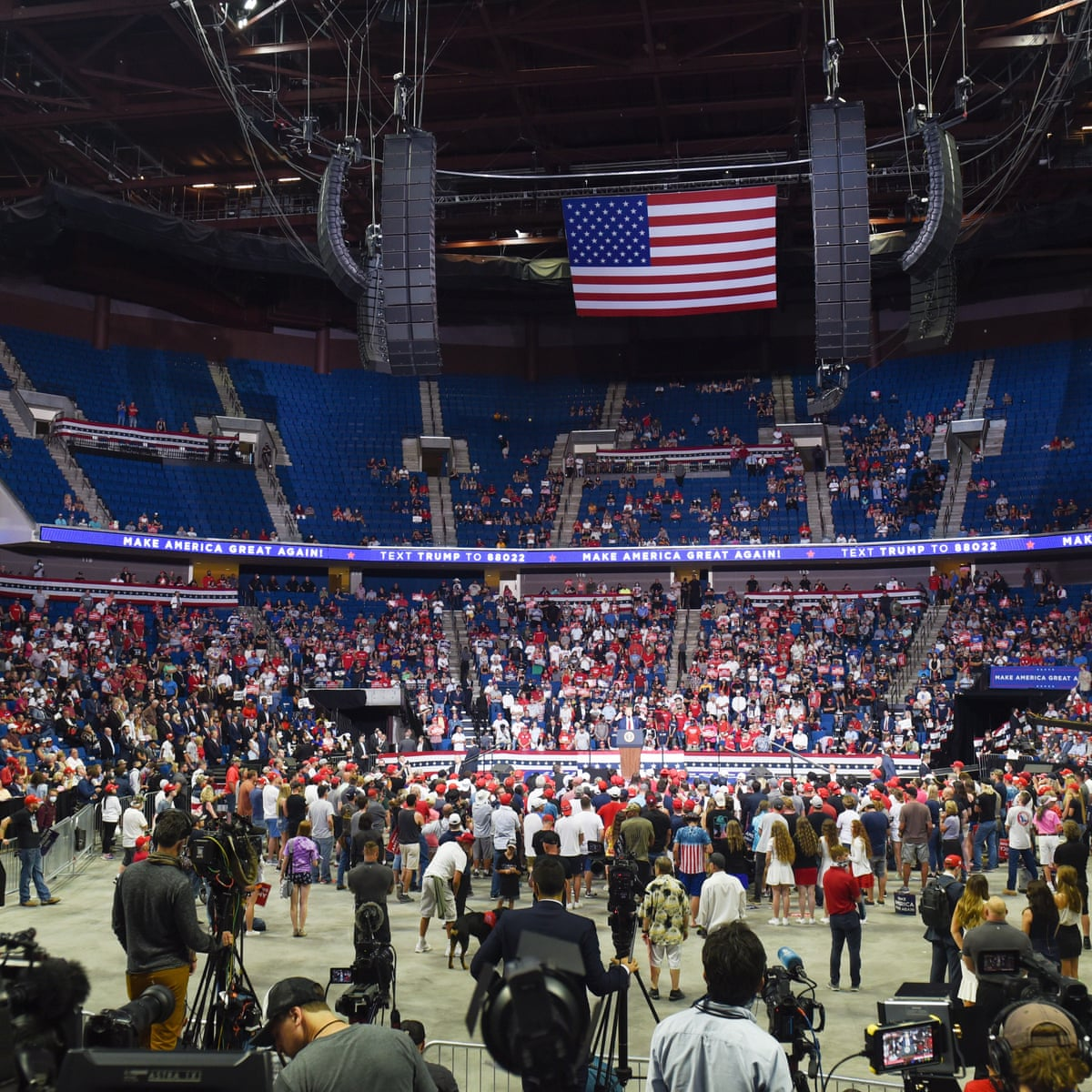 Donald Trump Sows Division And Promises Greatness At Tulsa Rally Flop Donald Trump The Guardian