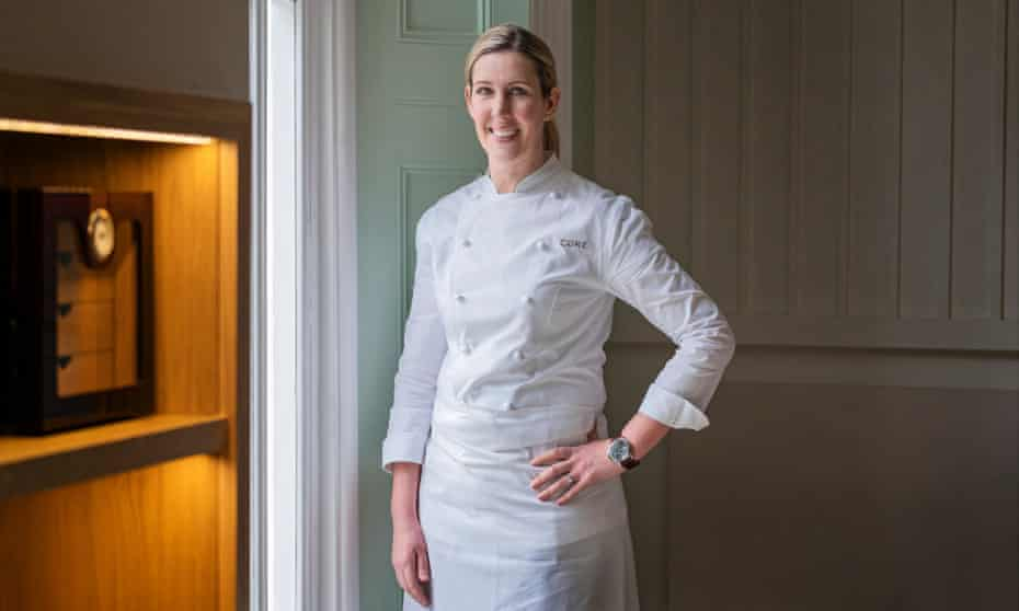 Clare Smyth photographed at her restaurant Core