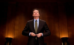 The FBI director, James Comey, prepares to testify before the Senate judiciary committee on Capitol Hill in Washington in May