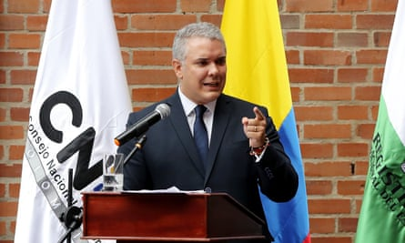 Iván Duque has vowed to overhaul the peace accord, which was brokered by Juan Manuel Santos.