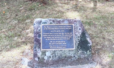 A modest memorial close to the site of the 17 April 1816 Appin massacre