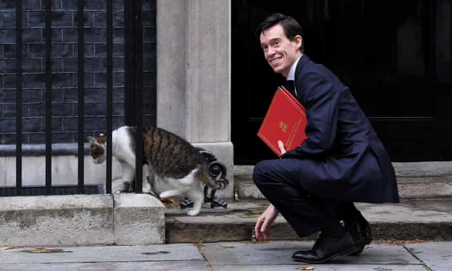 Rory Stewart and Larry the cat in Downing Street
