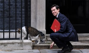 Rory Stewart with Larry the Downing Street cat