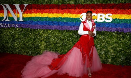 Billy Porter in a dress at the Tonys