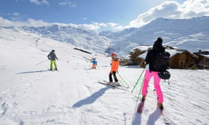 Skiers at Reberty.