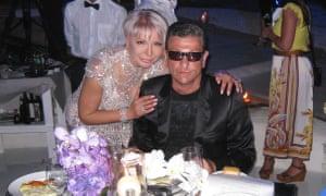 David Kaplan with his sister Ludmila at his 46th birthday party in Sardinia.