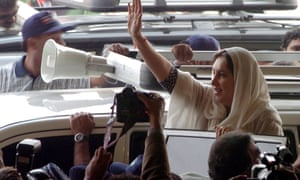 Benazir Bhutto greets supporters in November 2007, a month before she was assassinated.