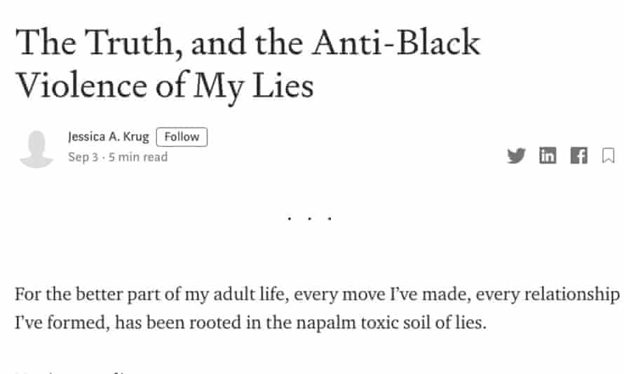 Jessica Krug's confession.