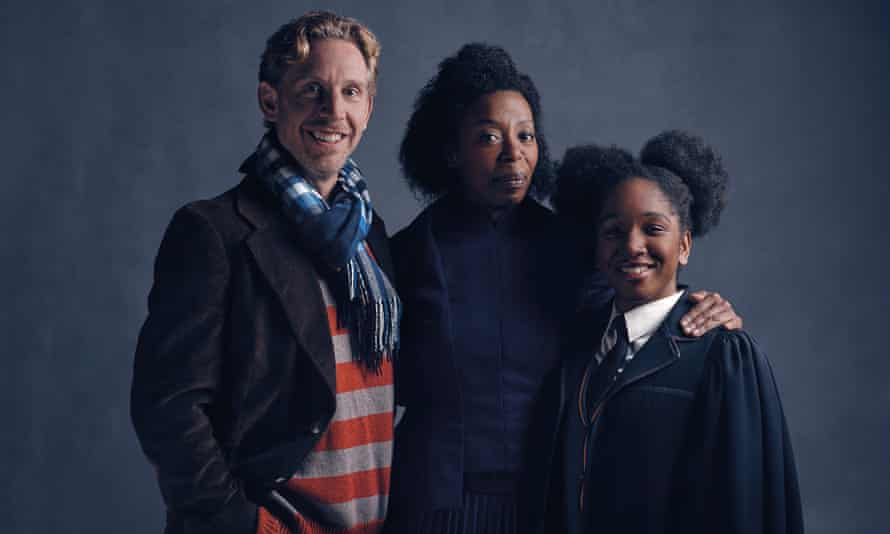 Stars of Harry Potter and the Cursed Child: Paul Thornley as Ron Weasley, Noma Dumezweni as Hermione Granger and Cherrelle Skeete as Rose Granger-Weasley.