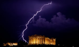 Trouble in the air … the Parthenon in Athens, where Philip Kerr's Greeks Bearing Gifts is set.