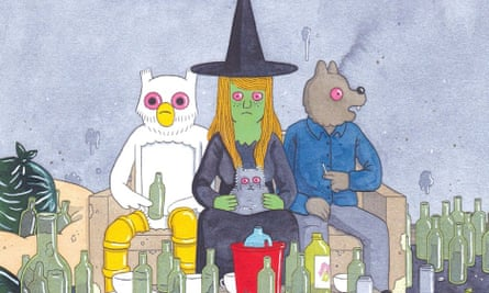 Ilustration from Megg and Mogg in Amsterdam by Simon Hanselmann