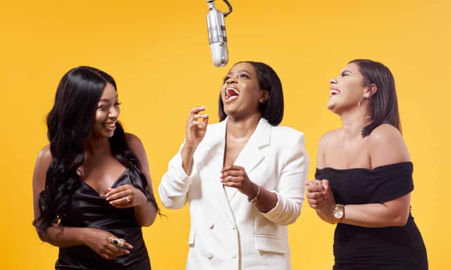 Payback ... (l-r) Audrey Akande, Tolani Shoneye and Milena Sanchez.