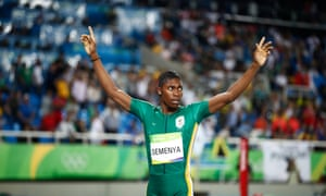 Caster Semenya of South Africa celebrates after winning the women's 800m final at Rio 2016 Olympic Games.