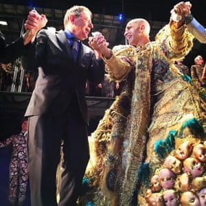 Philip Glass joins Anthony Roth Costanzo at curtain call