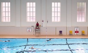 Swimmers at Ironmonger Row Baths run by Better