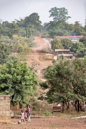 A cocoa farming village in Camaye Cooperative, Abengourou.