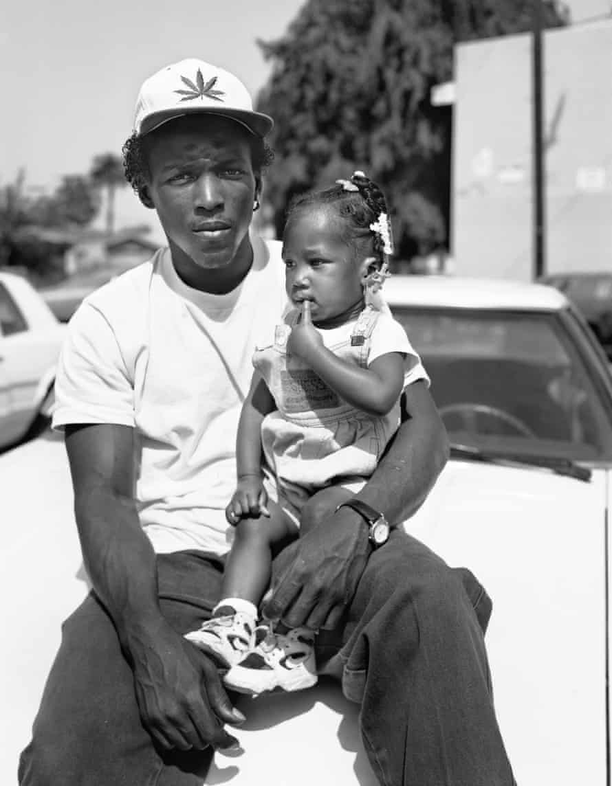 Chin with his daughter Dee Dee, 1993
