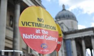 National Gallery staff strike over privatisation plans
