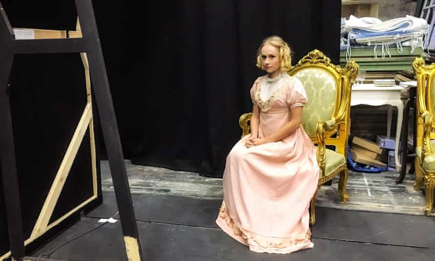 Emily Vine as Maria Bertram. 'Unlike the lively Emma Woodhouse or the high-spirited Elizabeth Bennet, Fanny is a heroine who does not express her feelings.'