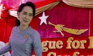 Aung San Suu Kyi at home in Yangon, Myanmar