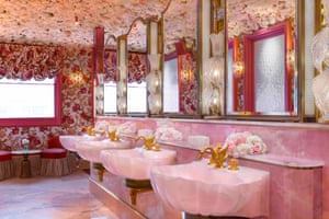 The ladies powder room at Annabel's restaurant in London
