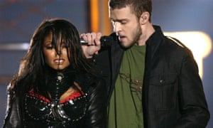 Janet Jackson and Justin Timberlake perform their now-notorious duet at the 2004 Super Bowl