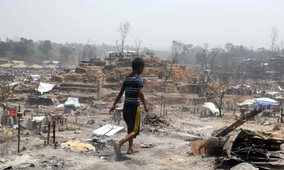 The aftermath of a huge fire in Cox's Bazar