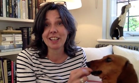 Helen Bailey with her dog