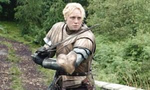 Christie as itinerant warrior Brienne of Tarth