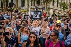 New York, USActivists protests against the immigration policy. More than 40 members of the direct action group 'Rise and Resist' were arrested after shutting down rush hour traffic at the intersection of 42nd Street and Fifth Avenue