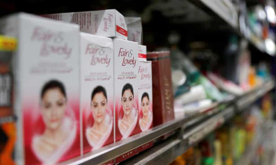 """Fair & Lovely"" brand of skin lightening products are seen on the shelf of a consumer store in New Delhi, India, June 25, 2020. REUTERS/Anushree Fadnavis"