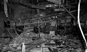 Archive photo of rubble in Mulberry Bush pub in Birmingham after IRA bombings in 1974.