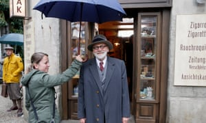 Bruno Ganz as Sigmund Freud on set during the filming of 2018's The Tobacconist in Munich, Germany