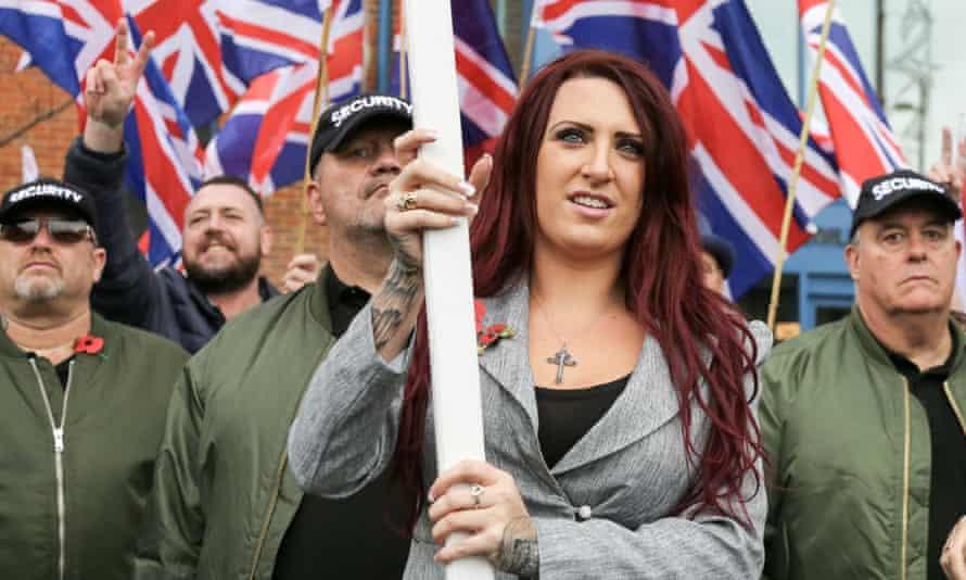 Britain First's Jayda Fransen, whose extremist tweets were taken up by Donald Trump.