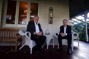 Bill Shorten with Kim Beazley