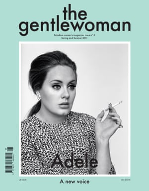 Showing how women 'actually look, sound and dress': Adele on the cover of The Gentlewoman.